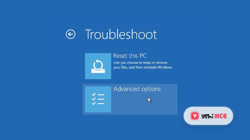 Troubleshoot Advance Options