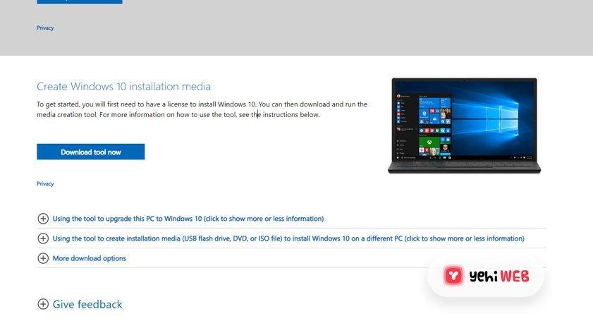 Download Windows 10 Tool