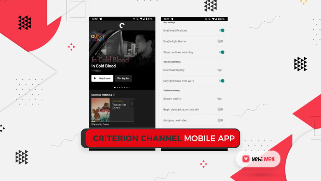 Criterion Channel Mobile App Yehiweb