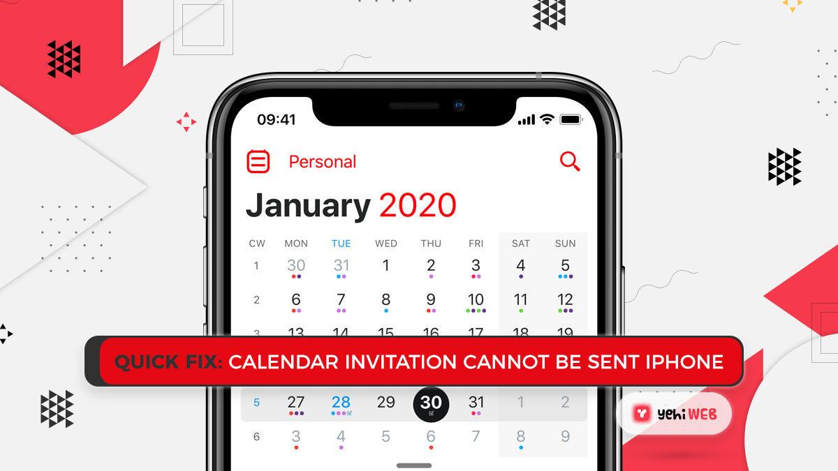 Quick Fix: Calendar Invitation Cannot Be Sent iPhone