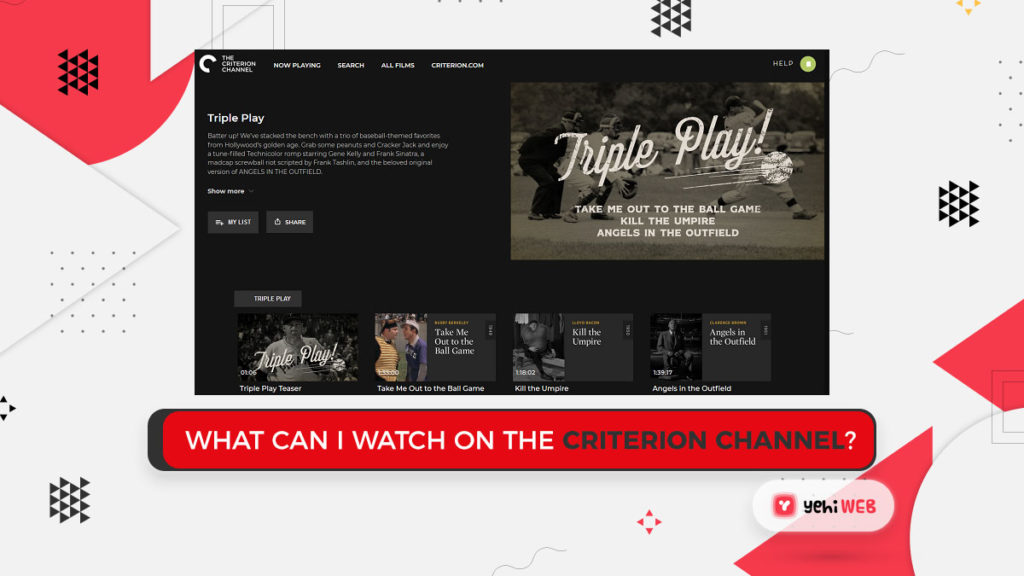 What Can I Watch on The Criterion Channel Yehiweb