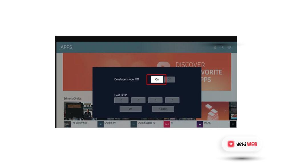 enable developer mode yehiweb