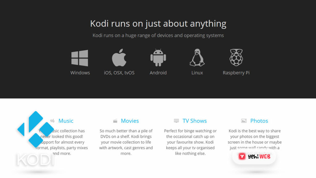 kodi key features yehiweb