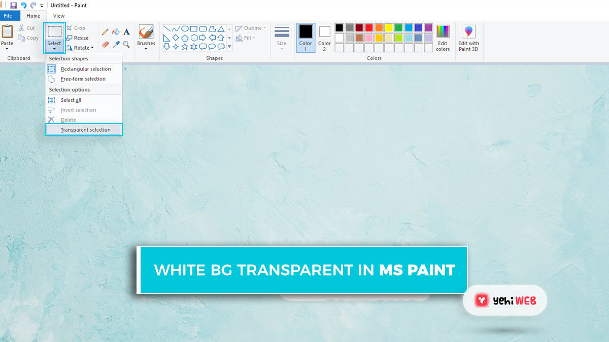 How to Make White Background Transparent in MS Paint