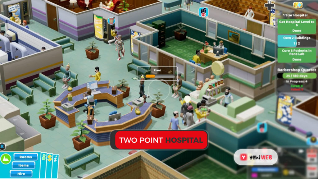 Two Point Hospital game yehiweb